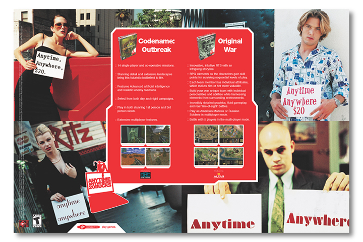 Virgin Interactive 2-Page Spread Advertisement Computer Games Magazine